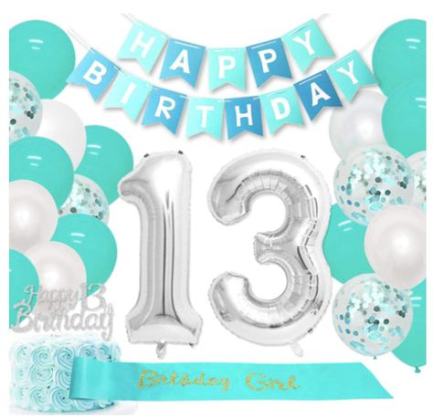 LaVenty Official Teenager Balloons Official Teenager 13 Birthday Decoration 13th Birthday Party Decorations