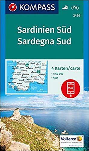 Kompass Wanderkarte Sardinien Sud Sardegna Sud 4 Wanderkarten 1