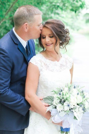 White And Blue Wedding Bouquet Idea With Thistle And Greenery Morgan Ravenscraft Photography Blue Wedding Bouquet Wedding Wire Wedding Bridal Bouquets