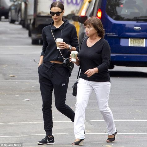 Mum's the word: The 29-year-old supermodel walked with her mother Olga Shaykhlislamova through the West Village, in New York