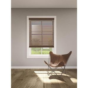 Levolor Trim Go 2 5 In Cordless Walnut Faux Wood Room Darkening Blinds Common 35 In Actual 34 5 In X 72 In Lowes Com In 2020 Wood Room Room Darkening Blinds Faux Wood