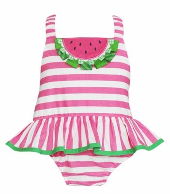 8506b9f25dd Claire & Charlie Baby / Toddler Girls Hot Pink Striped Watermelon ...