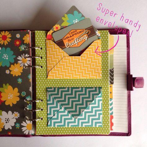 Super! Briefumschläge in Kalender oder Diary kleben...
