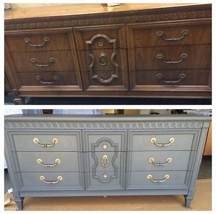 Upcycle Old Dark Wood Furniture, How To Paint Old Dark Wood Furniture