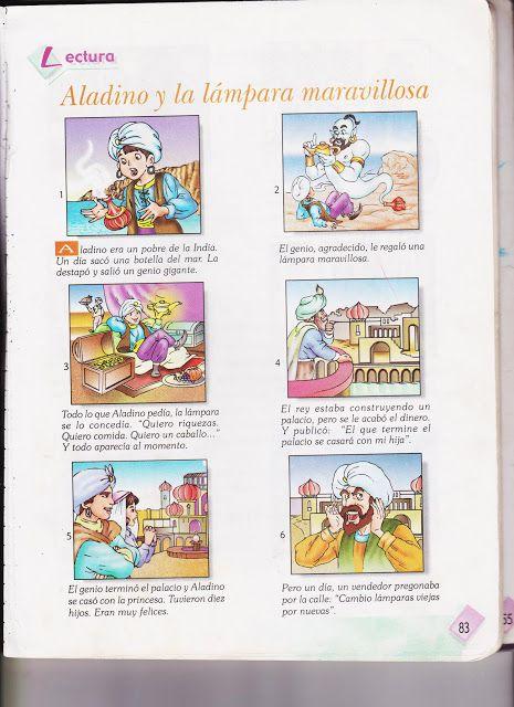 Cuentos Infantiles Aladin Y La Lampara Maravillosa Historieta La Lampara Maravillosa Aladino Y La Lampara Maravillosa Practicas Del Lenguaje