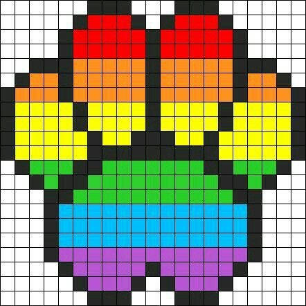 Rainbow Paw Perler Beads Pattern Pony Bead Patterns Pixel