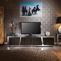 Large Luxury Tv Cabinet Ebony Gloss