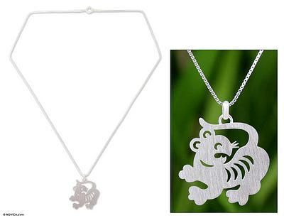 67 best chinese horoscope pendants images on pinterest horoscope chinese zodiac tiger sterling silver pendant necklace aloadofball Gallery