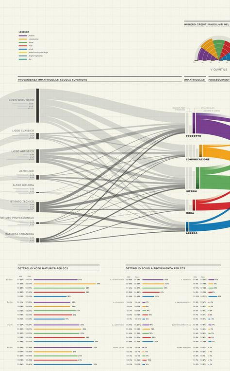 Inforgraphic - student demographics within the Design Faculty at Politecnico di Milano.