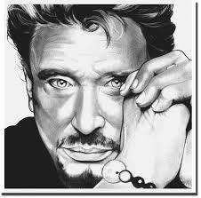 Johnny Hallyday Dessin Portrait Noir Et Blanc Dessin Visage Et