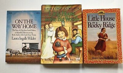 Details About Little House On The Prairie 3 Book Lot Big Woods Way