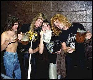 Ron Mcgovney James Hetfield Lars Ulrich Dave Mustaine Dave Mustaine Metallica Band Metallica