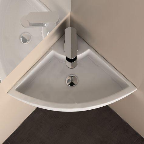 Lave main d\'angle Pure, 31 cm   Lavabo toilette, Salle de ...