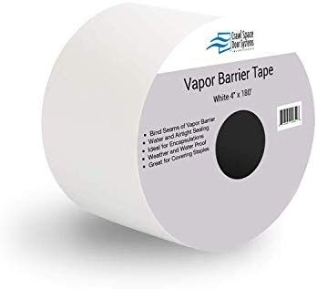 Amazon Com Vapor Barrier Seam Tape 4 X 180 Wall And Floor Liner For Crawl Space Moisture Barriers And Encapsulations White Barrier Tape Floor Liners Tape