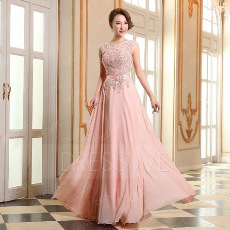 be2fe07788fb Dresswe.com SUPPLIES First-Class A-line Beading Applique Floor Length Prom  Dress Evening Dresses 2015 (2)