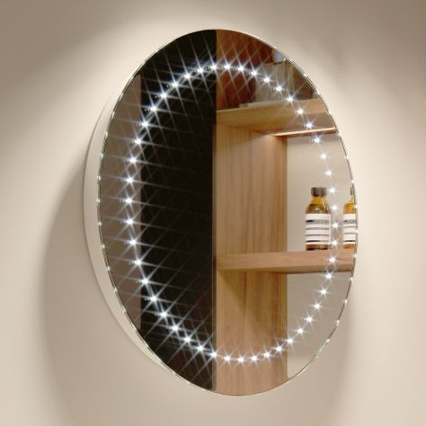 500x500mm Orb Led Mirror Battery Operated Led Mirror Modern Bathroom Mirrors Bathroom Mirror Lights