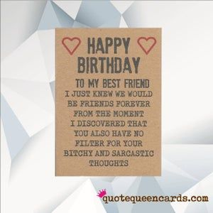 Birthday Card For Someone Special For A Good Friend For Best Etsy In 2021 Birthday Card Messages Funny Birthday Cards Best Friend Birthday Cards