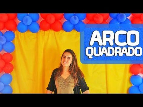 Arco De Baloes Quadrado Simples E Facil De 2 Cores Youtube
