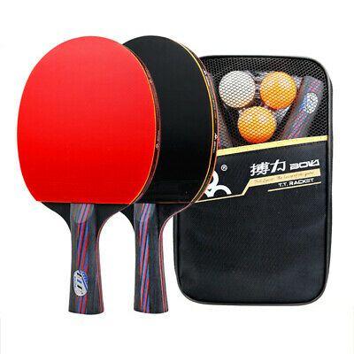 Advertisement Ebay Table Tennis Racket Set Long Short Handle Ping Pong Paddle Bat With Bag 3 Balls In 2020 Table Tennis Racket Ping Pong Paddles Indoor Games