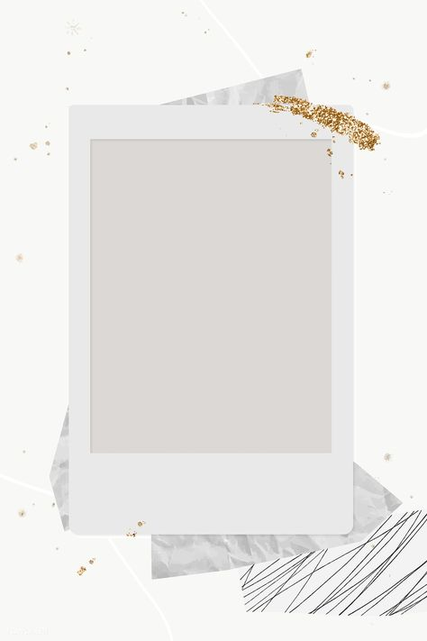 Download free png of Blank instant photo frame background transparent png