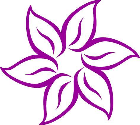 Fiore 7 Petali.Immagine Gratis Su Pixabay Fiore Purple Disegno Petali