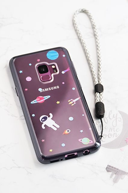 on sale 199ed aef31 Samsung Galaxy S9 Cute Case, Ringke Fusion [DECO Outer Space Decal+ ...