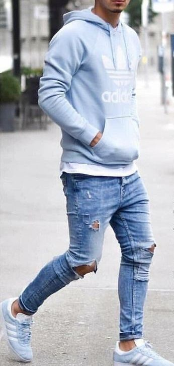 - Men Jeans - Ideas of Men Jeans - outfits swag outfits urban outfits ideas outfits moda masculina outfits hipster Jeans Levi's, Denim Shirt With Jeans, Jeans Slim, Denim Shirts, Ripped Jeans, Jeans And Hoodie, Men's Denim, Hoodie Outfit, Mens Jeans Outfit