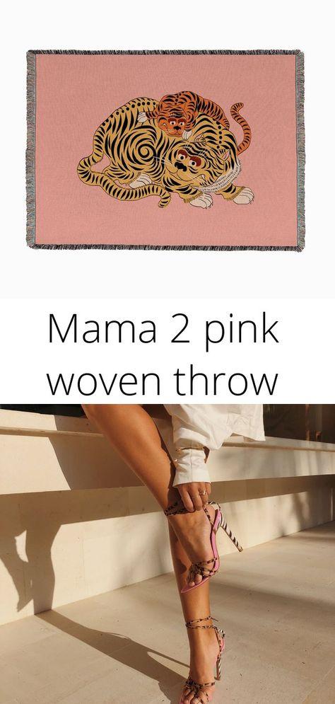 Mama 2 pink woven throw