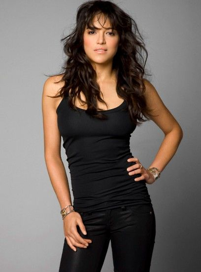 Outfit: Black...with Black.. and more Black.. (And Michelle Rodriguez does wear it well!)