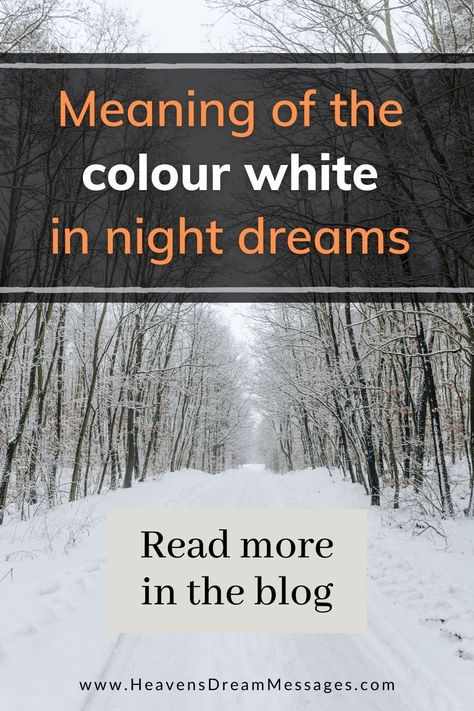 Explore the symbolic meaning of white in dreams, and what that means in practice, plus real dream examples. Dream symbol | snow | bible #dreaminterpretation #dreamsymbol #light #snow