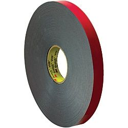 3m Vhb 4646 Tape 1 5 Core 1 X 5 Yd Gray Red Tape Acrylic Material Plastic Items