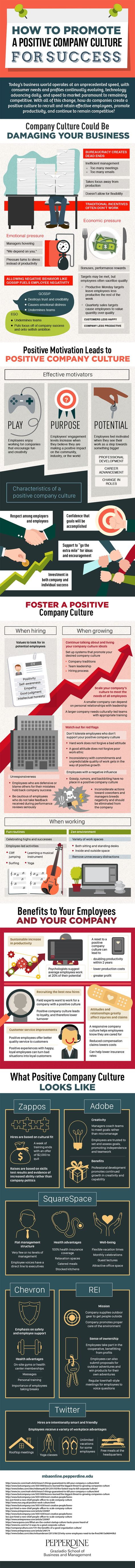 How to Promote a Positive Company Culture for Success #Infographic