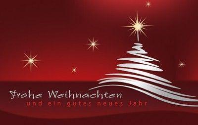 Weihnachts Spendenkarte Fur Dkks Mit Roten Tannenbaumen Und Silberdruck Weihnachtskarten Weihnachtsgrusse Rote Weihnachtsbaume