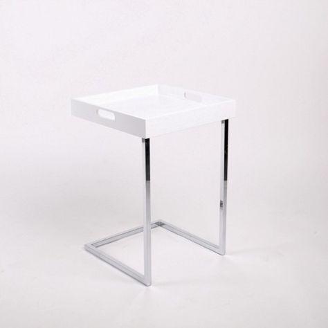 Tablett Tisch Weiss Beistelltisch Modern Couchtisch Modern Moderne Beistelltische