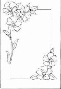 Flowers Design Border Simple 53 Ideas Flower Drawing Design Drawing Borders Page Borders Design