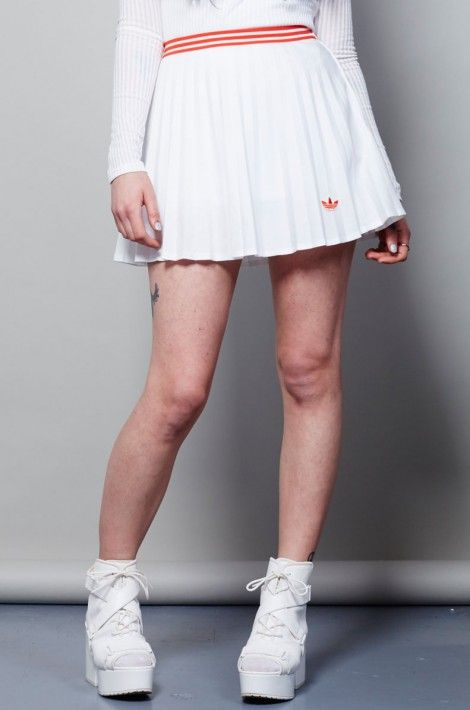 Vintage White 70 S Pleated Adidas Tennis Skirt Nordicpoetry Co Uk In 2020 Tennis Skirt Outfit White Tennis Skirt Womens Tennis Skirts