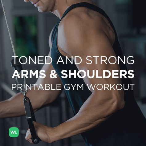 Visit http://WorkoutLabs.com/workout-plans/toned-strong-arms-shoulders-gym-workout-for-men-women/ for a FREE PDF of this Toned and Strong Arms