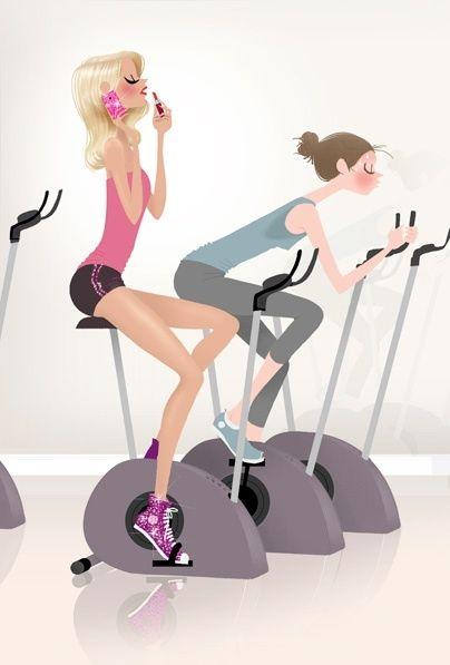 Открытка про фитнес