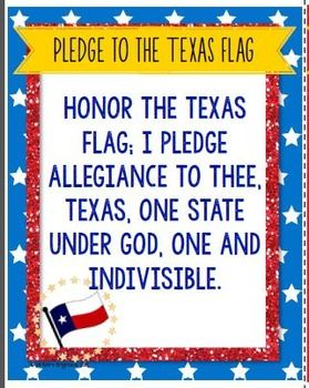 graphic relating to Texas Pledge Printable identify Pledge of Allegiance within English and Spanish (Pledge in the direction of Texas