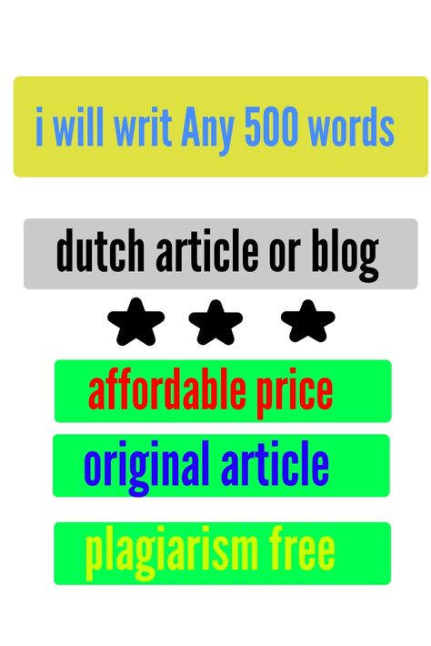 I will write a perfect SEO dutch article, text or blog