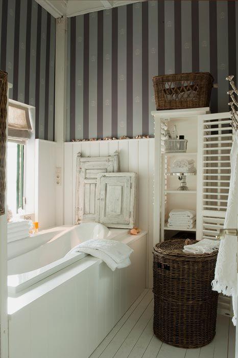 Love the feel of this bathroom. Riviera Maison via Inspirational ...