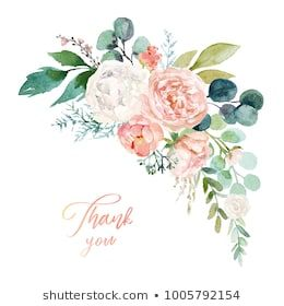 Watercolor Floral Illustration Bouquet With Bright Pink Vivid