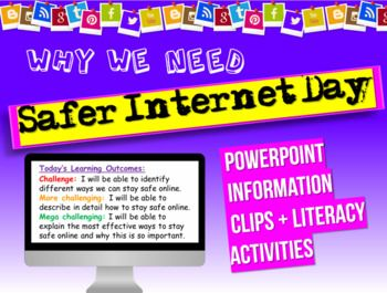 Safer Internet Day Powerpoint And Worksheets Safe Internet Online Learning Online Teaching