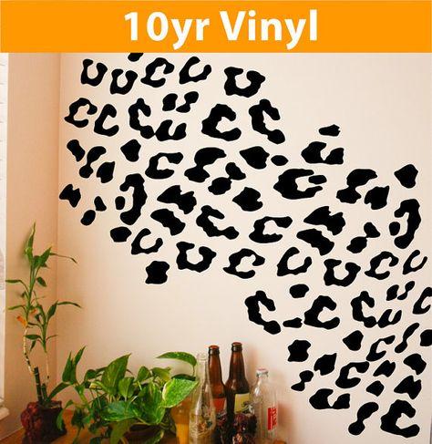 Leopard spots set wall vinyl decal bedroom by Vinlyisyourfriend, $19.99