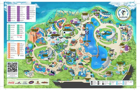 sea world map - Google Search | Theme park map, Orlando map ...