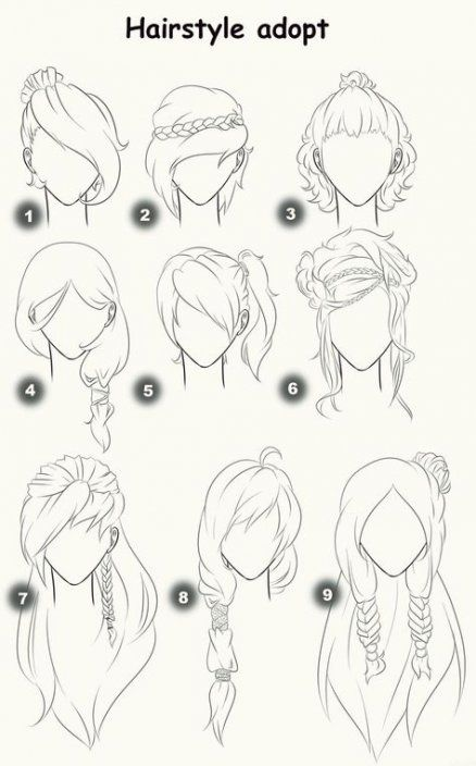 49 Ideas Hair Straight Ponytail Messy For 2019 Drawing Hair Tutorial How To Draw Hair Hair Sketch