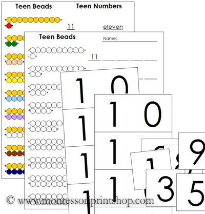 i like this set up! Montessori Math worksheet {kindergarten ...