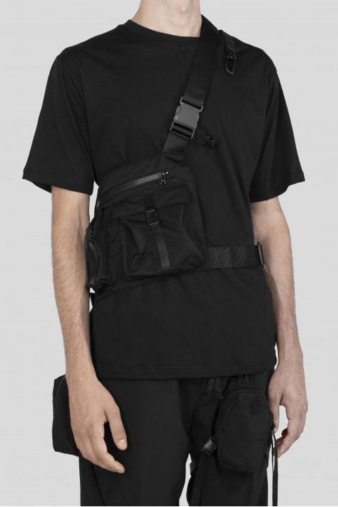 short jacket with detachable back bag techwear