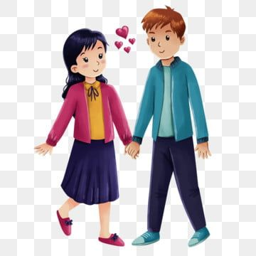 Happy Young Couple In Casual Illustration Couple Illustration Girl Png Transparent Clipart Image And Psd File For Free Download Illustration Happy New Year Text Couple Illustration