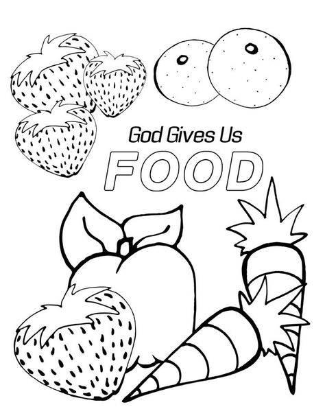Sunday School Coloring Pages For Preschoolers Food Coloring